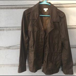JCrew Utility Jacket Army Green Coat Olive Large